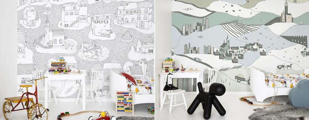 papier peint colorier mr perswall pour les enfants s. Black Bedroom Furniture Sets. Home Design Ideas