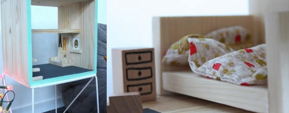 diy pour fabriquer une maison de poup es styl e s 39 amuser my little kids. Black Bedroom Furniture Sets. Home Design Ideas