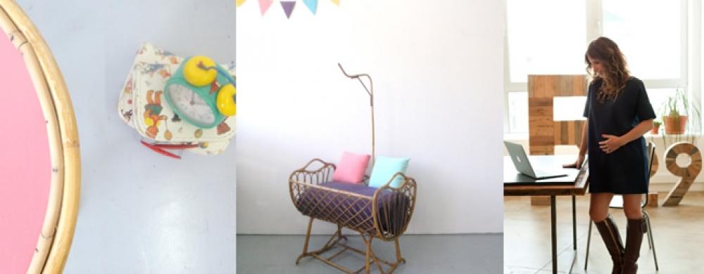 une chambre d 39 enfant vintage avec roger bontemps le coin des parents my little kids. Black Bedroom Furniture Sets. Home Design Ideas